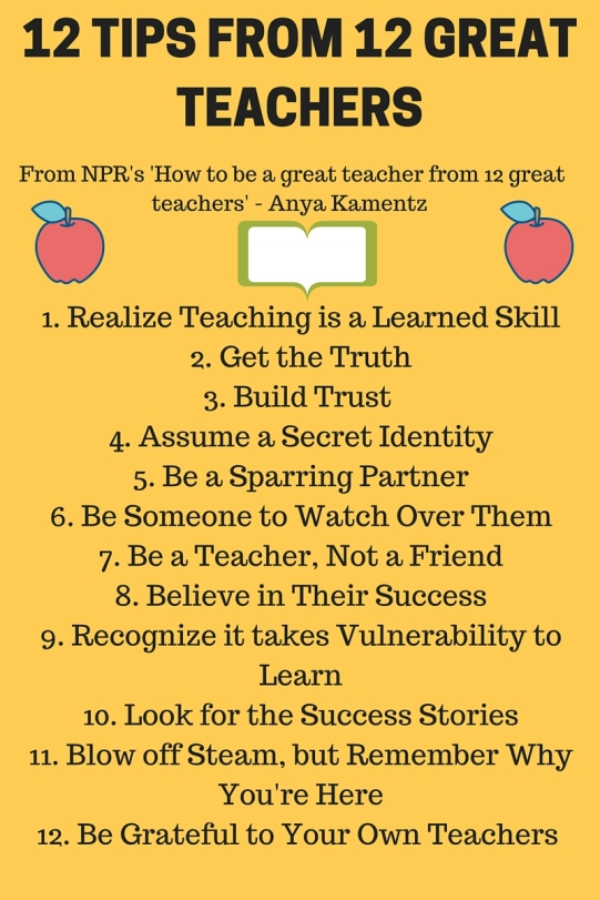 12 TIPS FROM 12 GREAT TEACHERS (1)